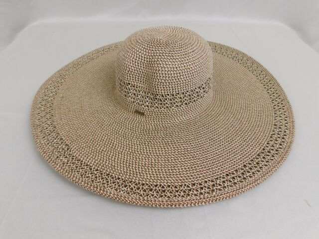 119269b9b28 Nine West Packable UPF 25+ Super Floppy Wide Brim Sun Hat - Brown  C331