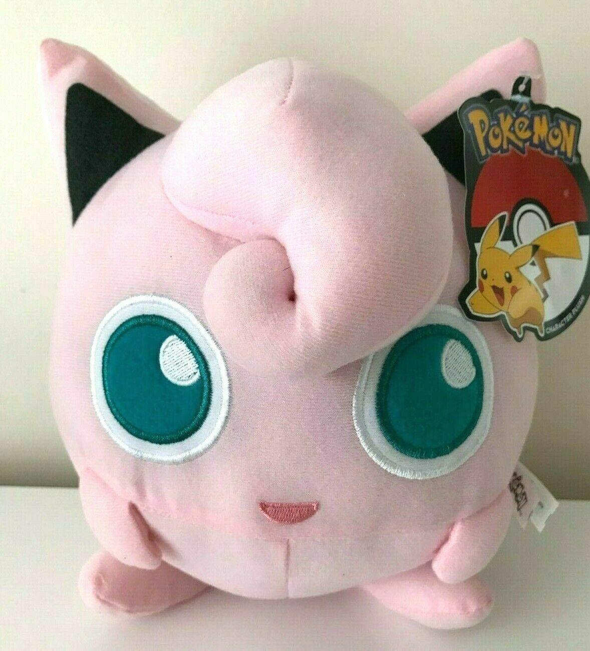 """New w//tag Pokemon JIGGLYPUFF Plush Large 9/"""" Pink Stuffed Toy"""