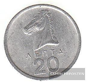 Griechenland-KM-Nr-114-1978-sehr-schoen-Aluminium-1978-20-Lepta-Hengst