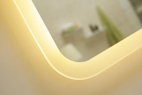 Lumière miroir miroir mural miroir de salle gs045n avec LED-éclairage ip44 Blanc chaud