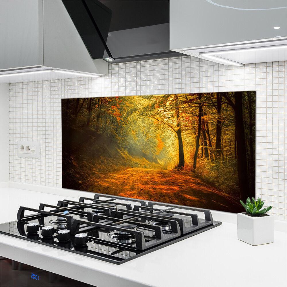 Crédence de cuisine cuisine cuisine en verre Panneau 120x60 Nature ...