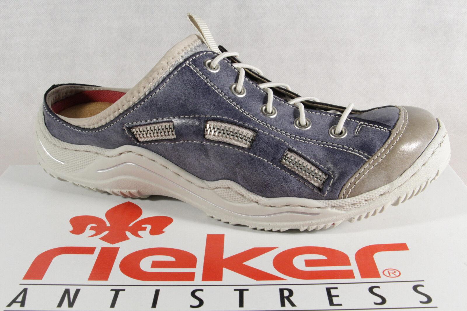 Rieker Zoccoli donna sabot pantofola pantofole blu L0523 NUOVO