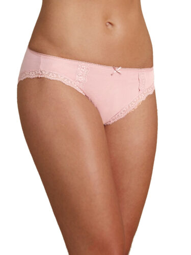 M /& S size 12 Pink Cotton Rich High Leg Low Rise Knickers Panties Briefs