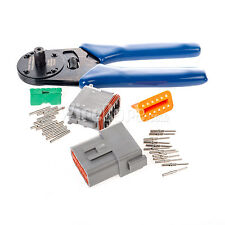 DT12GY-CT - Deutsch 12 Pin Solid Contact Connector Kit W/ Crimper