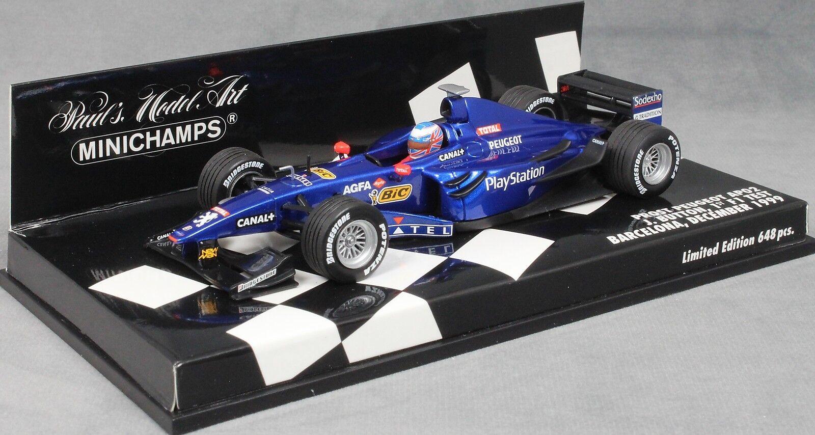 Minichamps PROST AP02 Barcelone Test F1 1999 Jenson Button 400990119 LTD ED 648