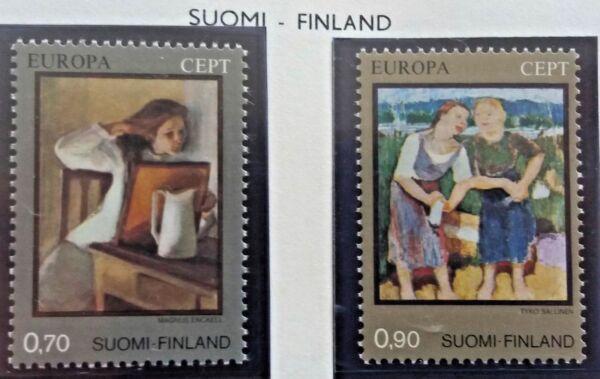 2 X Timbre Stamp Suomi Finlande 1975 Yt 728 729 Europa Cept Neufs Un BoîTier En Plastique Est Compartimenté Pour Un Stockage En Toute SéCurité