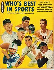 1959 Who's Best in Sports Magazine Baseball Mickey Mantle, Yankees, Willie Mays