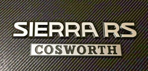 Reproduction Chrome Sierra Cosworth RS badges