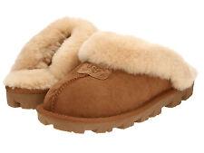 Women's SIZE 6 Shoes UGG Australia Coquette Sheepskin Slippers 5125 Chestnut New
