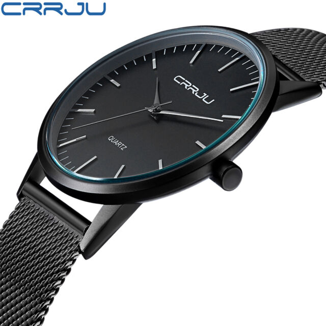 New Men's Luxury Casual Watch Sport Quartz Analog Wrist Watches Stainless ##EF