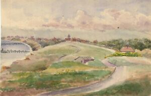 Charles-T-Miles-Double-Sided-Early-20th-Century-Watercolour-Coastal-Path