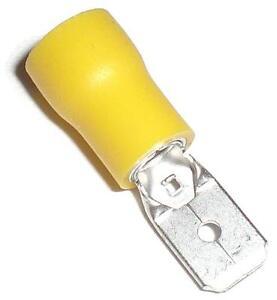 10-Flachstecker-GELB-6-3-x0-8mm-Kabelschuhe-4-0-6-0mm