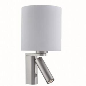 Applique-Murale-en-Acier-Inoxydable-Lampe-Argent-2x-E27-LED-Salon-Interieur