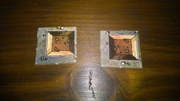 Adattabile Heroquest Token Pit Trap Piastrelle X4 (nero Retro) Risparmia Il 50-70%