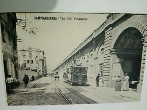 Cartolina-Genova-Sampierdarena-Tram