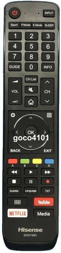 Hisense 169863 TV Remote