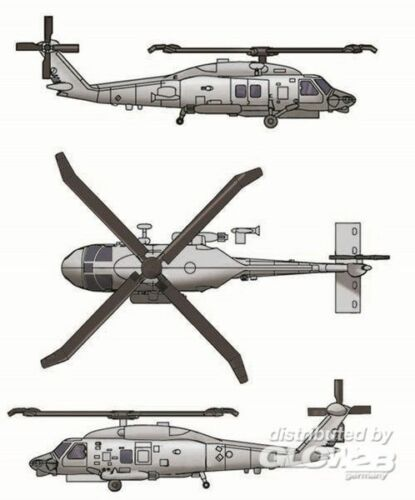 TRUMPETER® 06254 SH-60K Sea Hawk Helicopter in 1:350