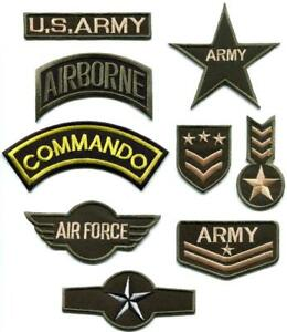 2318742e586 Army navy military insignia rank war applique iron-on patch new your ...