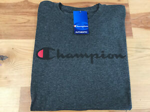 57696992 CHAMPION Long Sleeve CLASSIC Script Logo Crew Neck Athletic T-Shirt ...