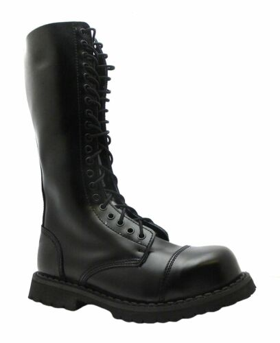 Leather Toe King Hole Cap Ladies 20 Steel Men's Grinders Boots Black Safety Cs 7xRqvWHA