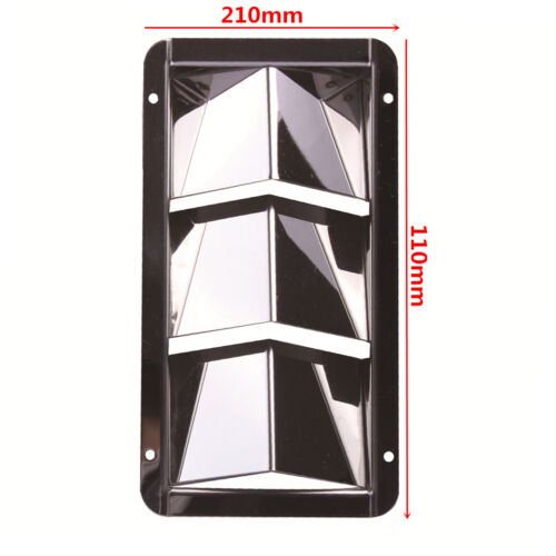 """8/"""" STAINLESS STEEL BOAT MARINE 3 SLOTS VENT BOAT LOUVER VENT 4-1//2/"""""""