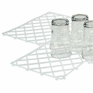 10-x-Glass-Mats-Plastic-Clear-White-Home-Pub-Bar-Shelf-Stacking-Pack-Shelf-Liner