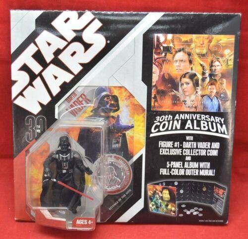 Star Wars TAC 30th Anniversary Coin Album w// darth Vader Figure New sealed