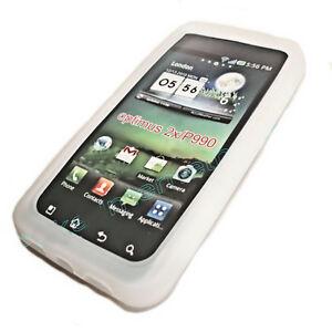 Silikon-TPU-Handy-Hulle-Cover-case-Schale-Schutz-Weis-fur-LG-P990-Optimus-Speed