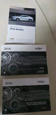 2016 Chevrolet Malibu U.S Portfolio//Owner/'s Manual New OEM GM 23424536