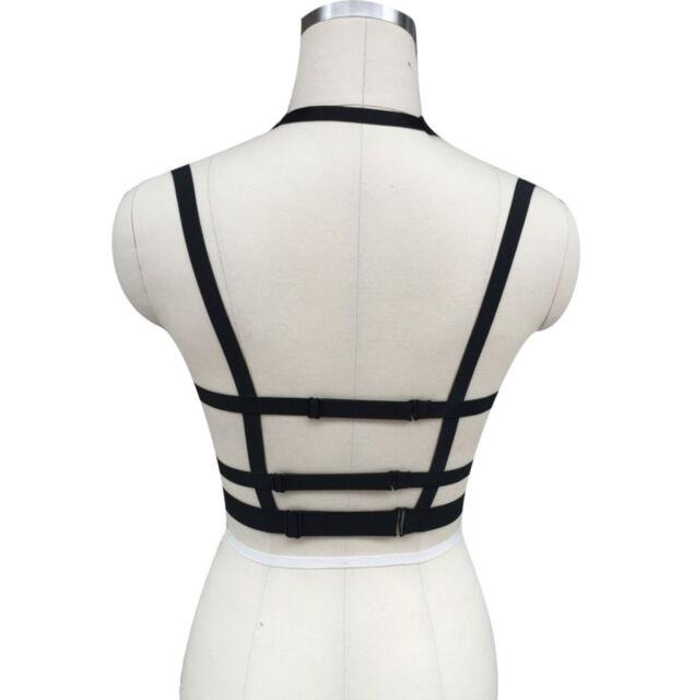 Body Harness Punk Gothic Inverted Pentagram Emo Bondage Bra Cage Custom Size Top