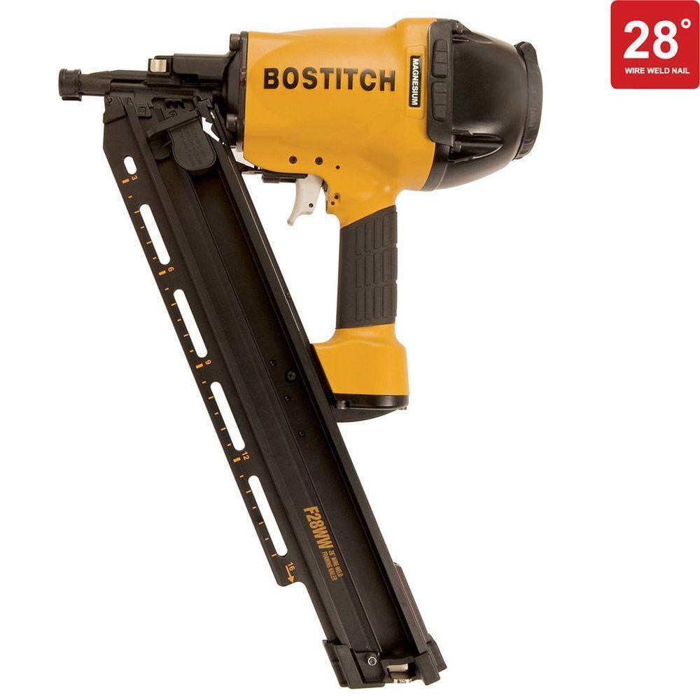 BOSTITCH F28WW 2-inch to 3-1 2-inch Framing Nailer w  Magnesium Housing