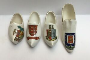 Vintage-Crested-China-Shoes-Jersey-City-Of-London-Gravesend-Deal