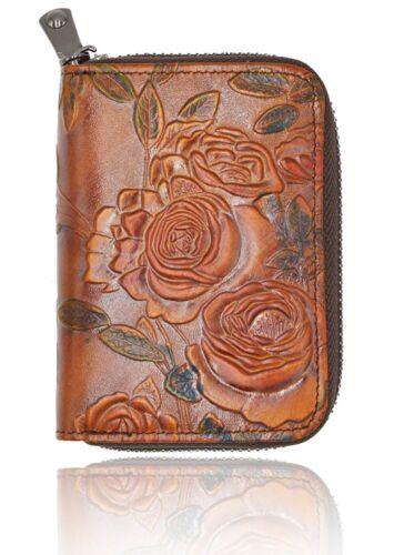Women RFID Blocking Leather Credit Card Holder Minimalist Handmade Wallet