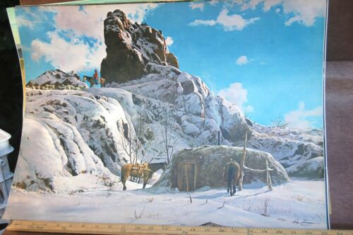 """Navajo Country"" Western Painting by Ray Swanson ~ Signed Numbered FREE SHIPPING"