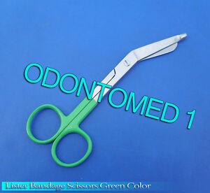 10-Bandage-Scissor-Green-Color-Handle-Paramedic-EMS-Nurse-Medical-Uniform-Supply