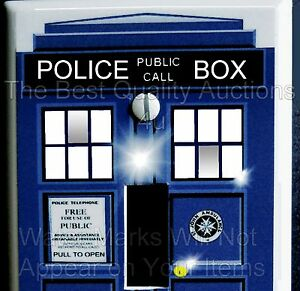 Dr who tardis light switch cover plate std x 4 5 uv for Tardis light switch cover