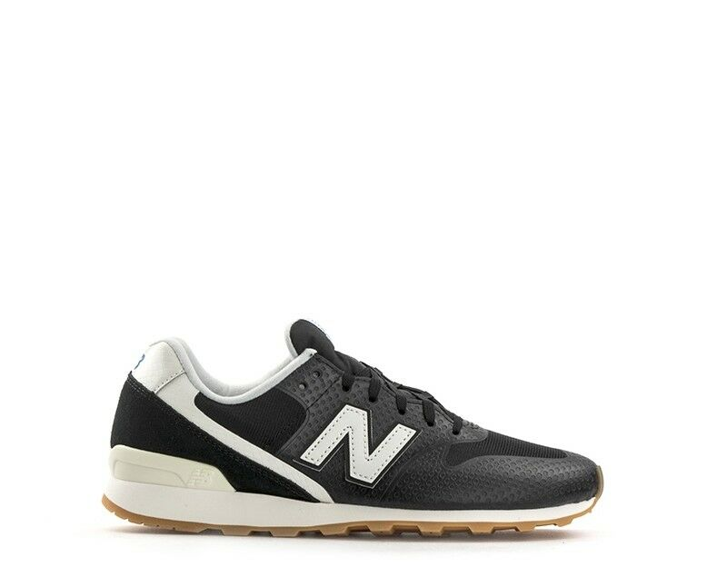 shoes NEW BALANCE Woman Sneakers BLACK   WHITE PU,Fabric WR996WF