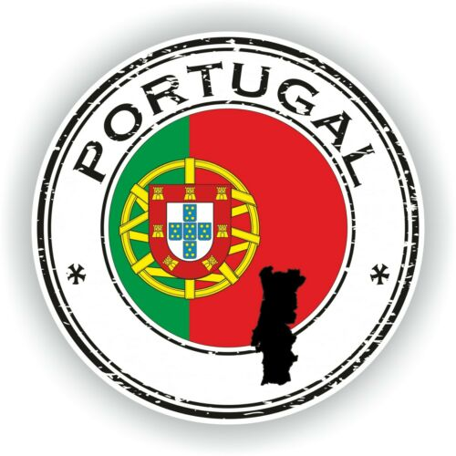 Seal Sticker of Portugal Stamp Bumper Roundel Truck Laptop Car