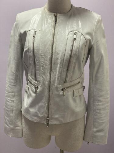 Celine White Leather Jacket Size 38