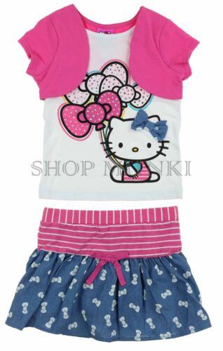 Hello Kitty Girl/'s Character 2 Piece Shirt and Skort Outfit Set-NWOT