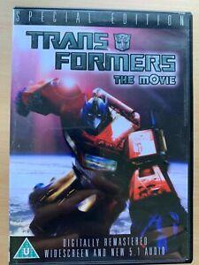 Transformers The Movie DVD 1986 Animato Film Classico 1-Disc Edizione Speciale