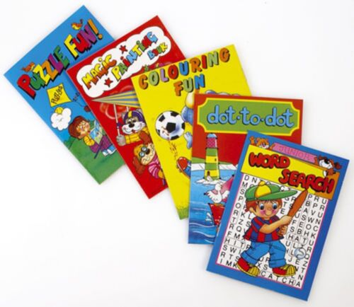 A6 mini activity books for Kids Party Bags Fillers Boys Girls Toys