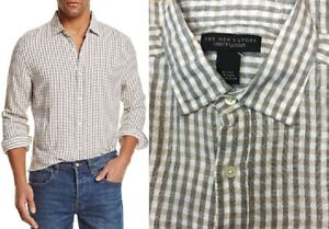 6735a119ba  98 Bloomingdales The Mens Store Linen Check Regular Fit Button-Down ...