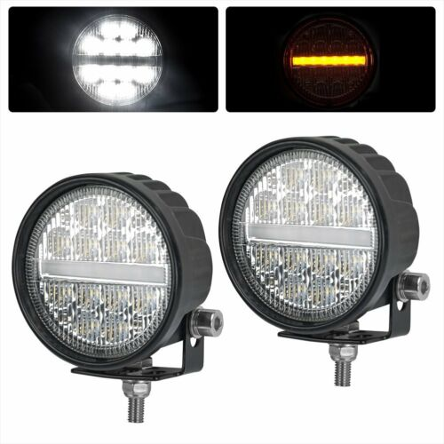 2x 3.5 Inch 48W CREE LED Work Light Bar Amber Pods Round Driving Fog Waterproof