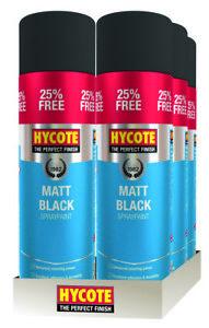 Hycote-Matt-Black-400ml-25-Extra-Spray-Paint-500ml-x-6
