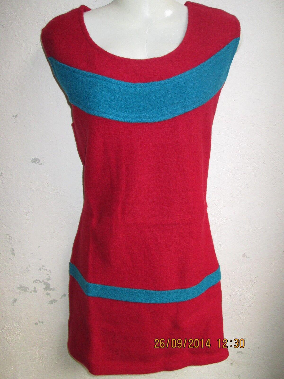 Chapati Kleid gefilzt joma Tunika Wolle Filzwolle Schurwolle Wollkleid L XL rot