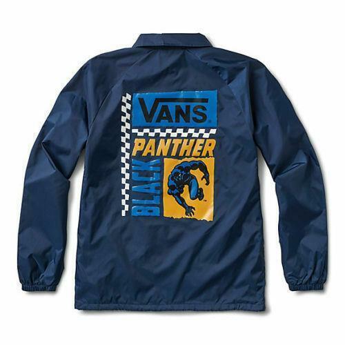 VANS Marvel Black Panther Torrey Jacket Sz XL VN0002MURUL