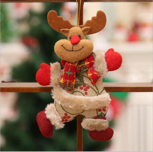 1pcs Santa Claus Merry Christmas Snowman Doll String Xmas Toy Hanging Ornament