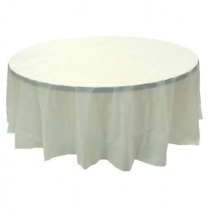 Image Is Loading 6 Pack 84 034 Ivory Round Plastic Table
