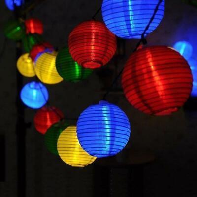 10 LED Solar Lichterkette Lampion warmweiß ...
